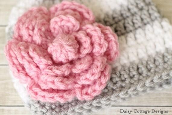 Large Crochet Flower Pattern Flower Applique Pattern Instant