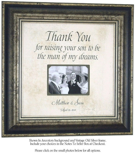 Parents Thank You Wedding Gift: Wedding Frame Personalized Father Of The By