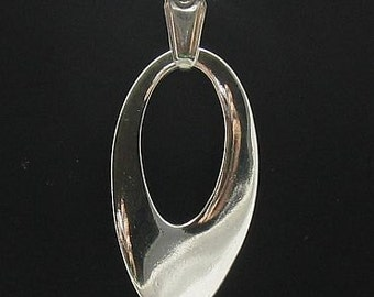 PE000261 Sterling silver pendant  925 ellipse solid