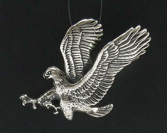PE000097 Sterling silver pendant  925  Eagle Quality