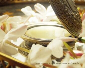 "Single note ""Enfleurage of Jasmine"" Natural Solid Perfume Locket"