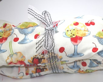 Microwave Heating Pad - Hot Cold Pack - Neck Wrap -  Massage Therapist - Rice Sack - Washable Cotton Ice Cream Cover