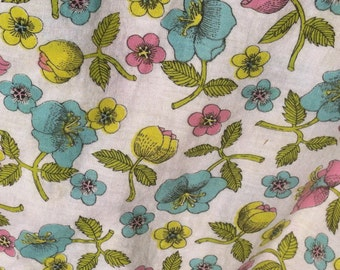 Duvet Cover Poppies Pink Aqua Acid Yellow Lime Green Bright Cheery ON SALE