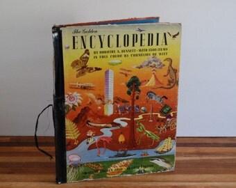 The Golden Encyclopedia - 1946 Second Printing - Dorothy A Bennett - Cornelius De Witt - Golden Books