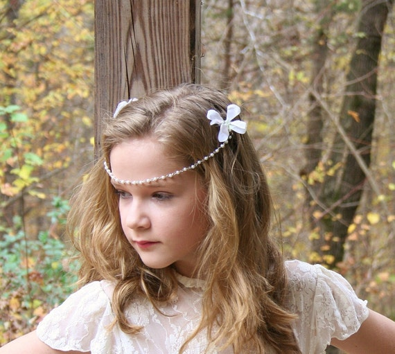 Bohemian Style Bridal Headband by FancieStrands