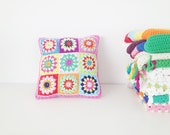 Granny Square Pillow Crochet Pattern - Instant Download