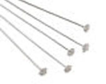 """3"""" Head Pin 50 pieces-999 pure silver Over Copper Core"""