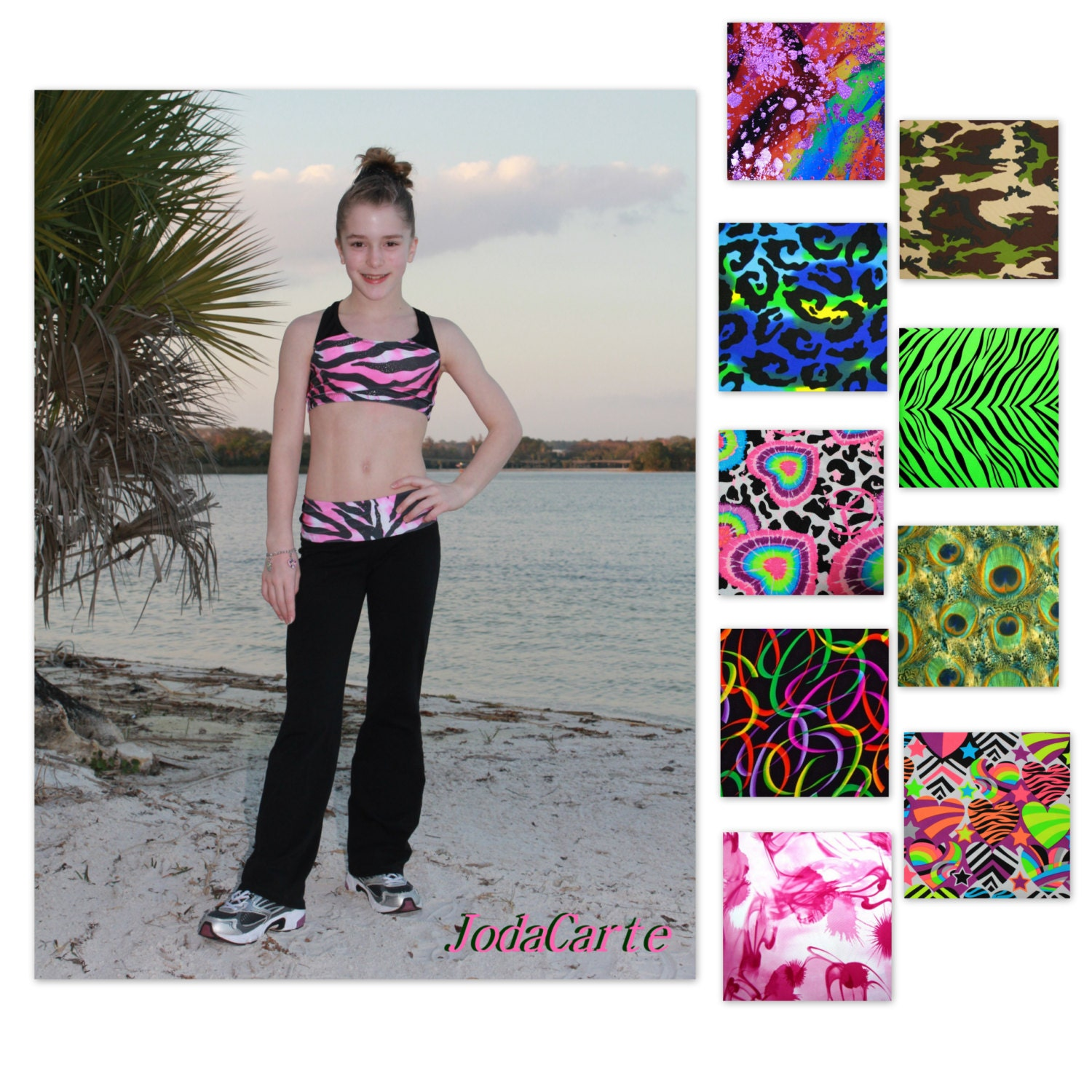Crop Top And Yoga Pants In Various Fun Fabrics Girls' By