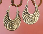 Scroll Earrings - Larger size - sterling silver