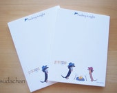 Dachshund Notepads - Cow Dogs on Ranch (set of 2)