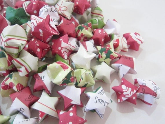 110 Smitten Christmas Origami Stars
