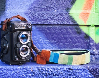 Green Tone Camera Strap suits for DSLR / SLR with Quick Release Buckles