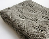 Special listing for ADRIENNE - Knitted linen grey throw blanket 220*220 cm
