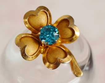 Vintage Four Leaf Clover Small Brooch by Coro