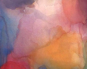 Abstract Art Print, Watercolor Painting, Finding My Way