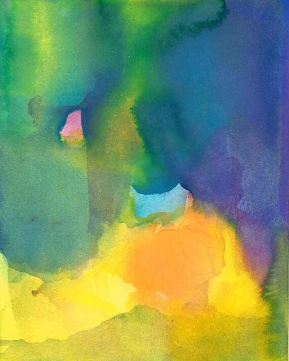 Large Art Print, Watercolor Painting, Gratitude