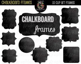 Chalkboard Frame Digital Chalkboard Frames Chalkboard Clipart Printable Chalkboard Frame Instant Download