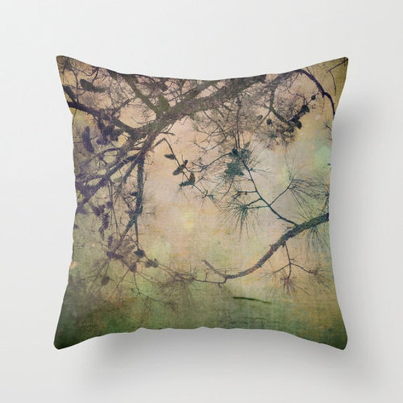 Pillow Cover Autumn Tree Photo Pillow Pine Cone Tree Pillow
