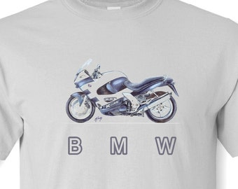 BMW Motorcycle T Shirt, White, Ash Grey or Sand  S,M,L,XL