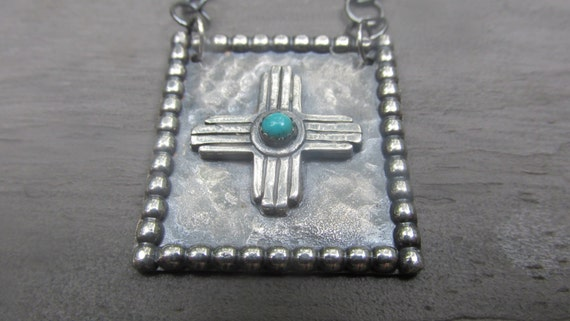 New Mexican Zia Sterling Cowgirl Western Southwestern New Mexico Necklace
