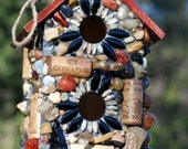 Large Mosaic Birdhouse with Native Volcanic Stones from the North West - WinestoneBirdhouses