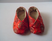 Auspicious birth adorable red baby shoes