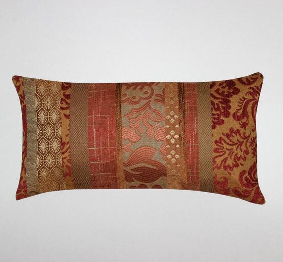 Decorative Pillow Rust : Lumbar Pillow 8X16 Petite Lumbar Rust Pillow by couchdwellers