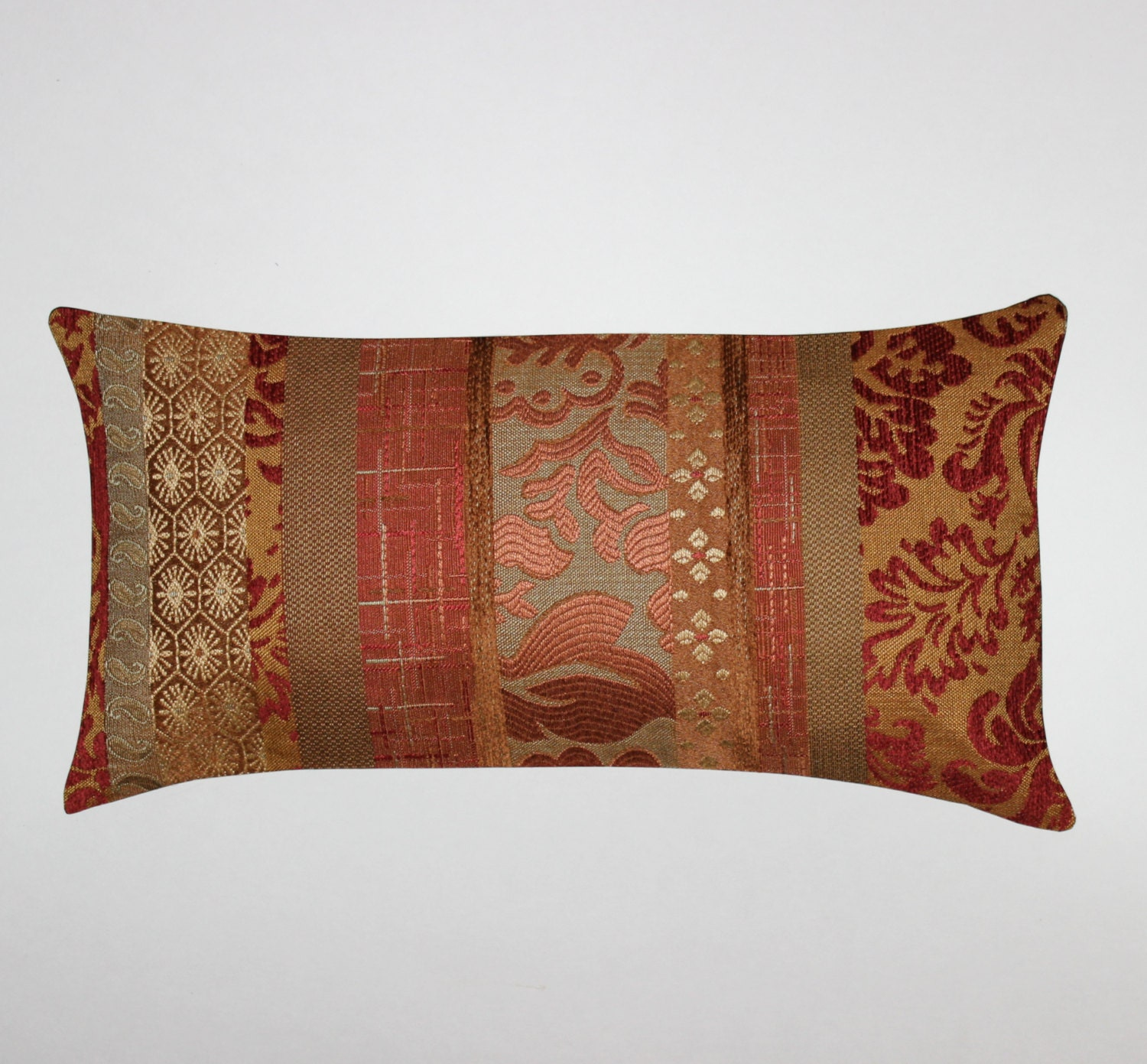Lumbar Pillow 8x16 Petite Lumbar Rust Pillow