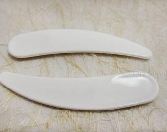 10 Mini White Cosmetic Spatulas for pigments, powders and creams