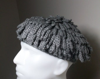 Knitting Pattern For Nudu Hat : Billy Gibbons ZZ Top inspired hat Bamileke Knit Hat Beanie Nudu - dreadlocs -...
