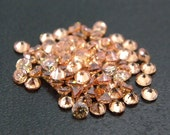7mm Round CZ Champagne Cubic Zirconia Loose Stones Lot