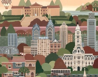 Illustrated Map of Philadelphia