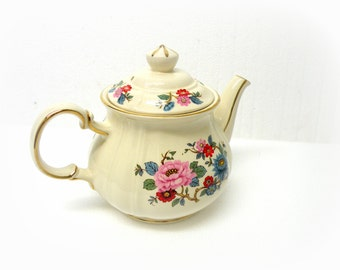 GREAT SHAPE Shop English Teapot- 24 kt SADLER- New Country Decorating Ideas- Afternoon Tea