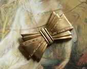 Vintage Original Old Brass Deco Bow Piece
