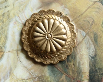 Vintage Beautiful Brass Vintage Art Deco Domed Pendant Piece