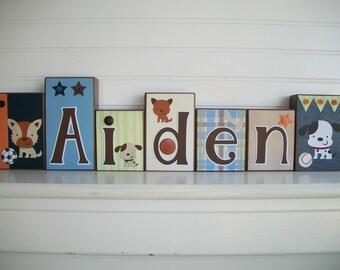 Name Blocks . Lambs and Ivy Bow Wow Buddies.  Nursery Name Blocks . Nursery Decor . Baby Letter Blocks . Wood Name Blocks . Bedding