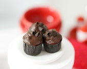 Playscale Miniature Chocolate Valentine Cupcakes