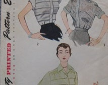 1950's Simplicity 3358 Size 40 Blouse Sewing Pattern