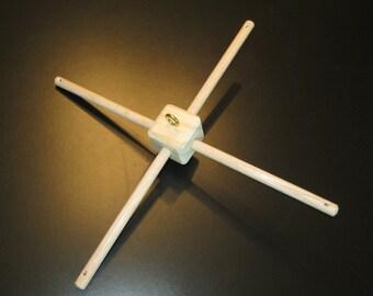 Oak Hanger for Crib Mobile - Wood Grain Colors - Cross Bars - 12 inches long - Customizable