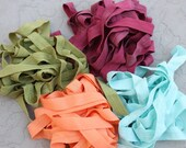 Fold over elastic 8 yards 2 of each color 5/8 inch wide