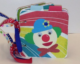 Circus scrapbook Big Top premade scrapbook mini brag book birthday