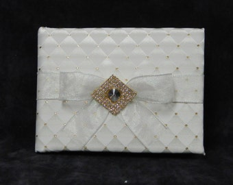 Ivory and Gold Bridal Guest Book