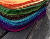 30 Rainbow Solids Cloth Baby Wipes, Unpaper Napkins, Family Cloth