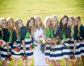Navy Striped Bridesmaid Skirt Custom made
