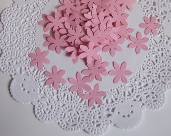 100 Pink Flowers-Punch Cut Embellishments, Weddings,  Confetti, Table Decorations