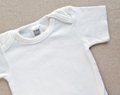 SALE! Onesie Blanks - Baby Bodysuits - Short Sleeve - White - 0-3, 3-6, and 6-12 Months - SET OF 3
