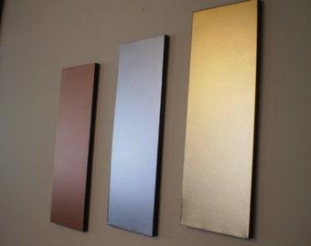 3 Metals (copper,chrome,gold paint)