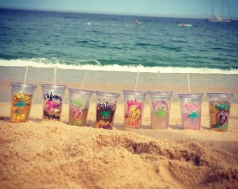 Personalized Decorated Tumblers - getways, birthday, girls weekend, bachelorette party, wedding tumblers, bridal party