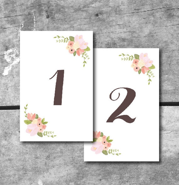 Items similar to instant download rustic floral table for Table design numbers