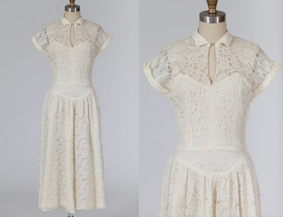 Vintage Lace Wedding Dress Etsy - Junoir Bridesmaid Dresses